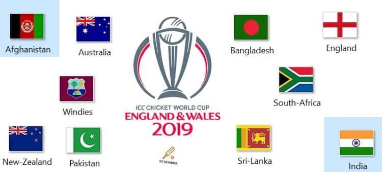 ICC World Cup 2019 Fixtture & Match Details