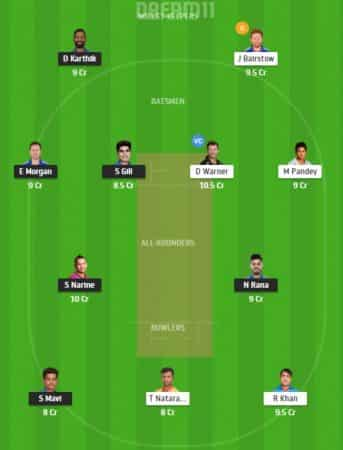 Dream11 team for KXIP Vs MI match on October, 1.