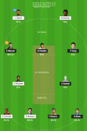 SRH Vs KXIP Dream11 Team 1