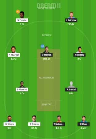SRH Vs KXIP Dream11 Team 4