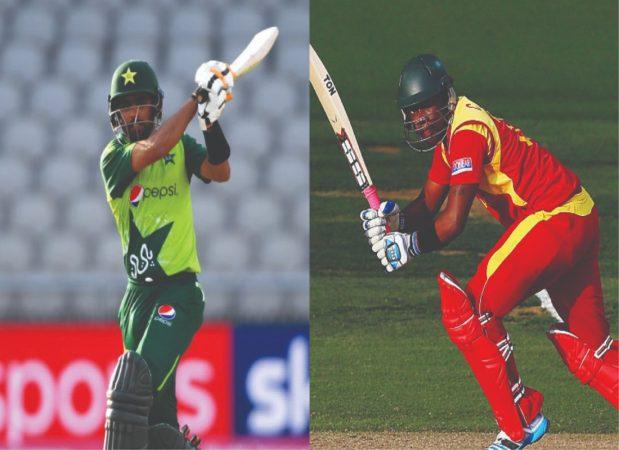 Babar Azam and Chamu Chibhabha (Pakistan vs Zimbabwe)
