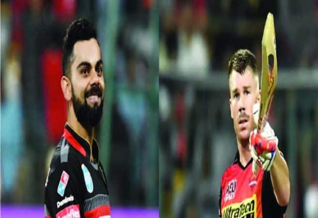 Virat Kohli and David Warner(RCB vs SRH)