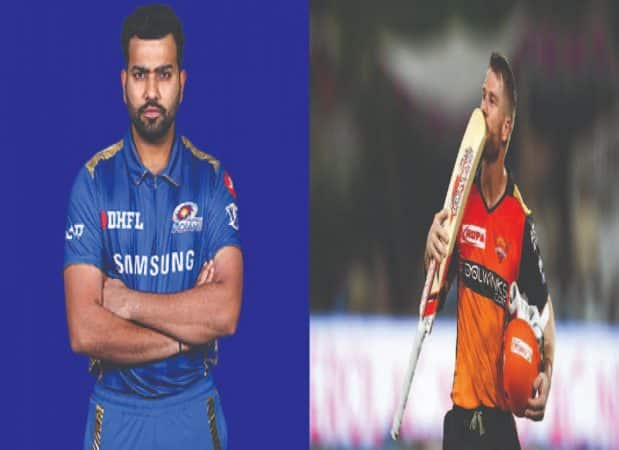 Rohit Sharma and David Warner(MI vs SRH)