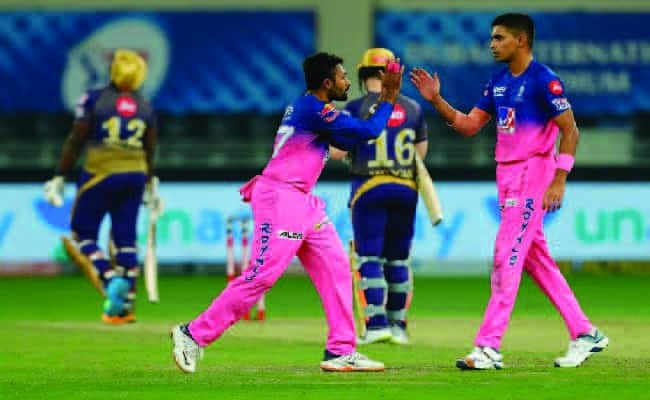 Shreyas Gopal And Kartik Tyagi celebrating wicket(KKR vs RR)
