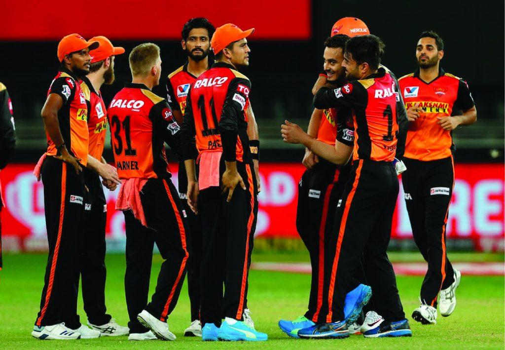 Sunrisers Hyderabad(SRH) celebrating wicket.