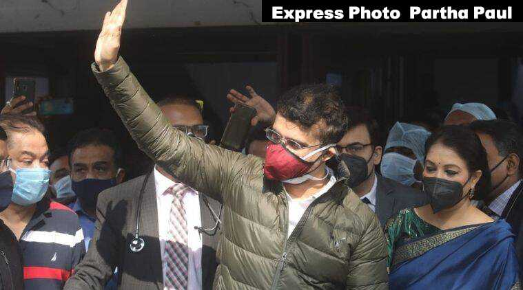 """BCCI President Sourav Ganguly says he is """"absolutely fine"""" after discharge from the hospital"""