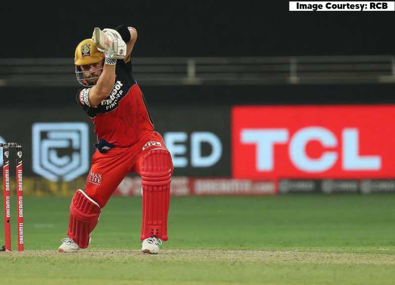 Aaron Finch playing for Royal Challengers Bangalore