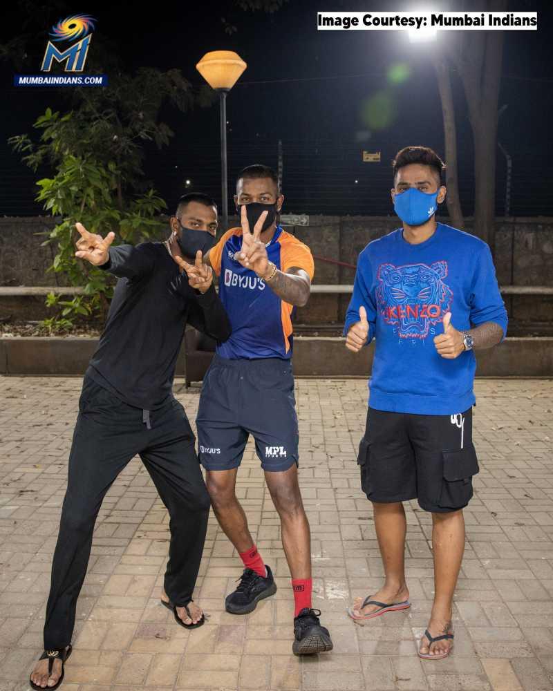 Vivo IPL 2021: Pandya brothers, Suryakumar joins Mumbai Indians post India triumph in Pune