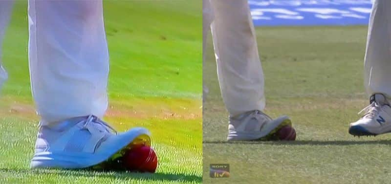 ENGvsIND: England Cricketers tempering the cricket ball with their spikes on day 4 of Lords Test