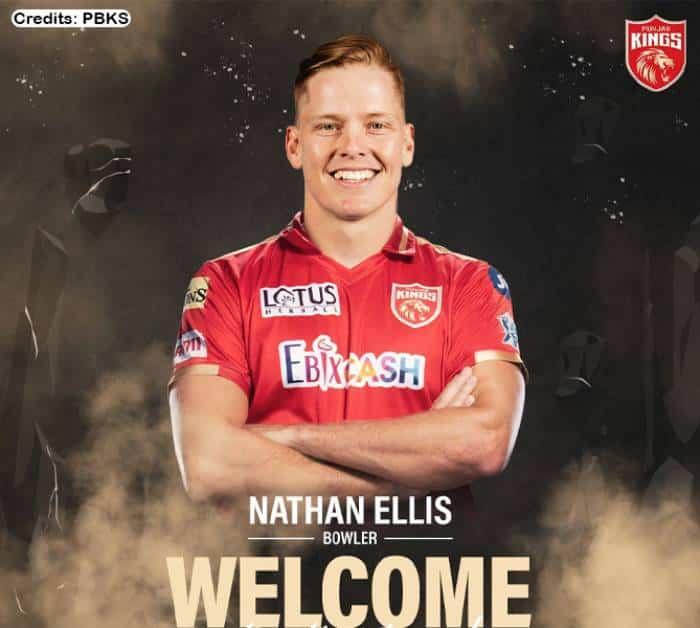 Vivo IPL 2021: Punjab Kings (PBKS) signed Nathan Ellis as Meredith and Richardson ruled out for Vivo IPL 2021